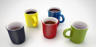Coffee mugs or colorful coffee cups