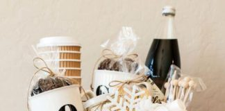 Chrstmas gift ideas basket of coffee
