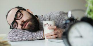 Man sleeping with coffee