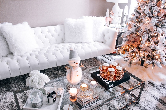 A festive design of Warm in Gold Coffee Table