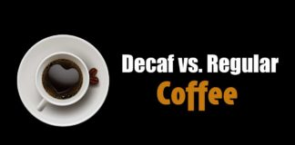 Decaf vs regular coffee