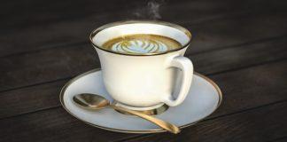 latte in a white ceramics cup