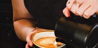 pouring coffee into mug