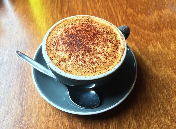 A mocaccino coffee in New Zealand