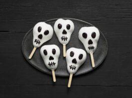 Candy-Coated Pear Skulls