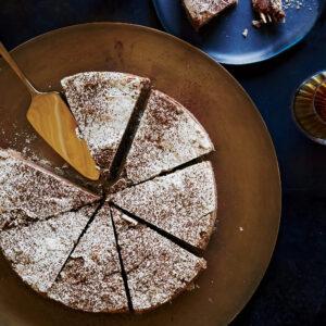 Chocolate and Coffee-Hazelnut Meringue Cake