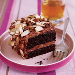 Toffee Almond Crunch Cake
