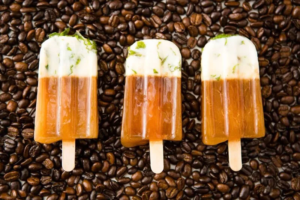 Mint Mojito Iced Coffee Popsicles