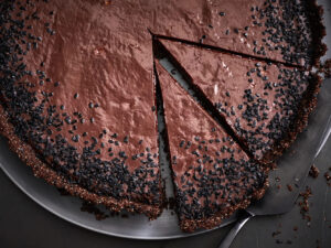 Miso Chocolate Tart with Black Sesame
