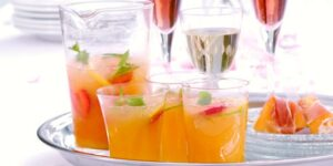 Citrus Peach Cooler Mocktail