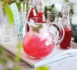 homemade cordial mocktail