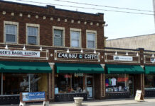 The original location Caribou Coffee